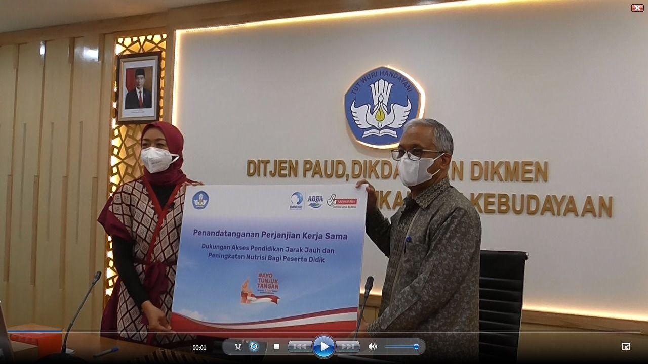 Danone Indonesia dan Kemendikbudristek Kembali Bersinergi untuk Tingkatkan Mutu Pendidikan Indonesia