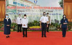 Wakil Presiden Ma'ruf Amin Mengunjungi Sekolah Pantau PTM Terbatas